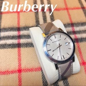 Burberry Nova Check Print Watch Women's Metal